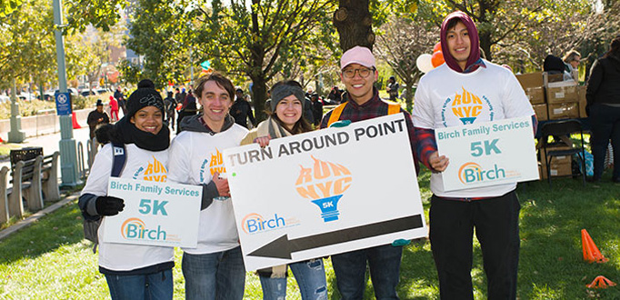 5K volunteers Birch Family Services